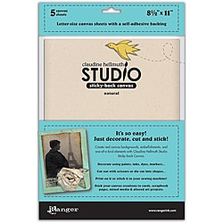 Studio 8.5 X 11 Sticky Back Natural Canvas (Pack of 5)