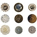 Tim Holtz Idea-Ology Accoutrements 9-piece Fanciful Buttons