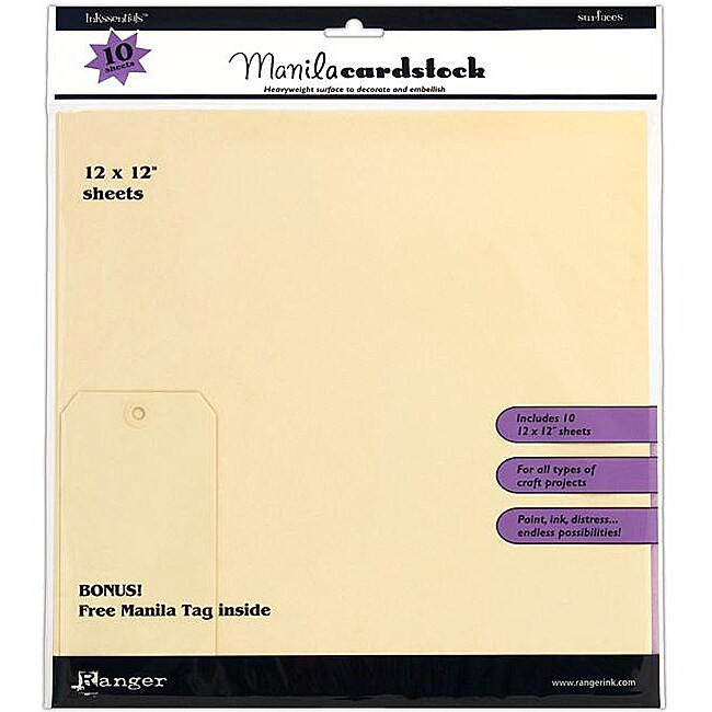 Inkssentials Manila Surfaces Cardstock (Pack of 10)