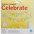 Celebrate Decor Glittered Garland 10-foot Happy Birthday Banner