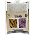 Sizzix Texture Fades 'Halloween Words & Cobwebs' Embossing Folders (Pack of 2)