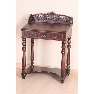 International Caravan Shangri-La Hand-carved Small Wood Writing Desk