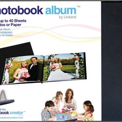 Black Linen 8.5 x 11 Photobook Album