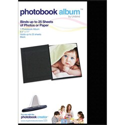 Black Leatherette 8.5 x 11 Photobook Album