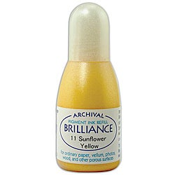 Tsukineko Brilliance Sunflower Yellow Ink Refill