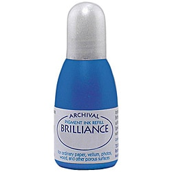 Tsukineko Brilliance Mediterranean Blue Ink Refill