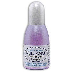 Tsukineko Brilliance Pearl Purple Ink Refill