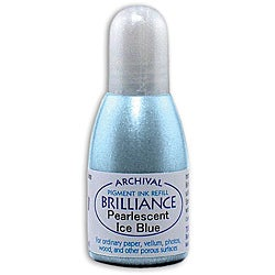 Tsukineko Brilliance Pearl Ice Blue Ink Refill