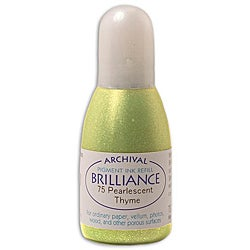 Tsukineko Brilliance Pearlescent Thyme Ink Refill