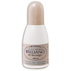 Tsukineko Brilliance Moonlight White Ink Refill