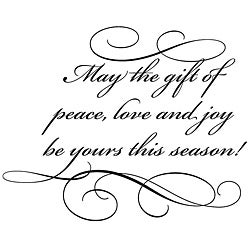 Penny Black Gift Of Peace Rubber Stamp