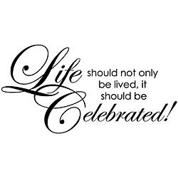 Penny Black 'Celebrate Life' Wood-mounted Rubber Stamp