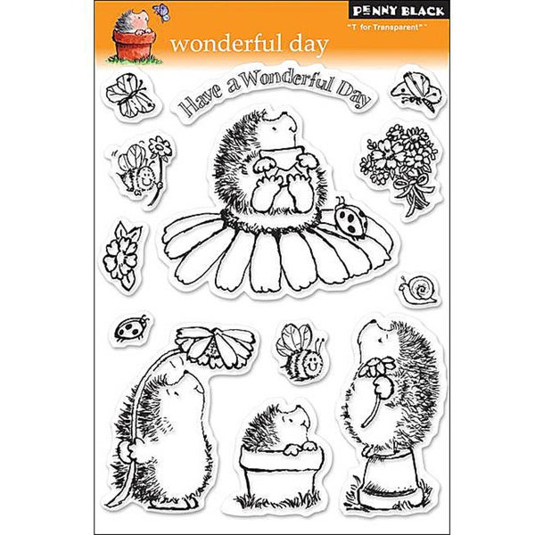 Penny 'Wonderful Day' Clear Stamps