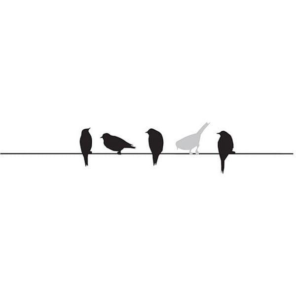 Penny Black 'Birds on Wire' Wood-mounted Rubber Stamp