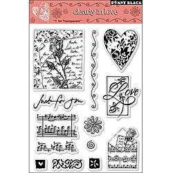 Penny Black 'Clearly in Love' Clear Stamps Sheet