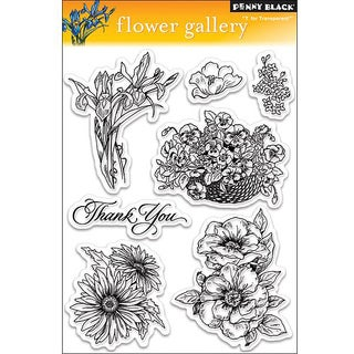 Penny 'Flower Gallery' Clear Stamps