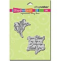 Stampendous 'Blessed Spring' Rubber Stamps (Set of 2)