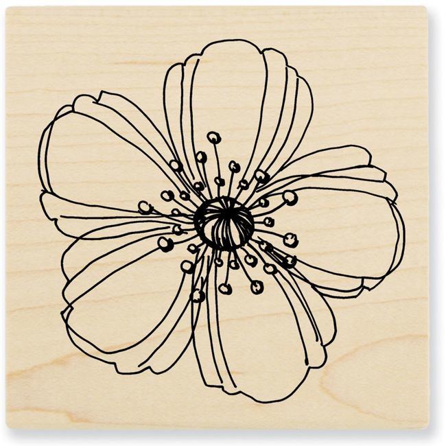Stampendous 'Fresh Bloom' Wood Stamp