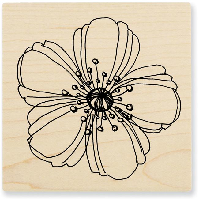 Stampendous 'Fresh Bloom' Wood Stamp