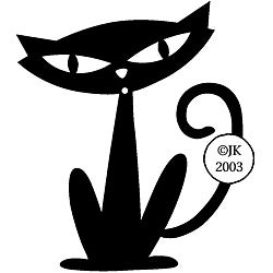 Judikins Black Cat Rubber Stamp