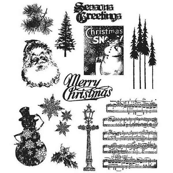 Tim Holtz 'Mini Holidays #2' Rubber Stamp Set
