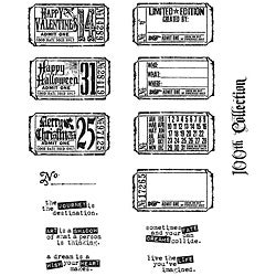 Tim Holtz 'Odds & Ends' Rubber Stamp Set
