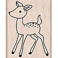 Hero Arts Young Deer Wood Mounted Rubber Stamp