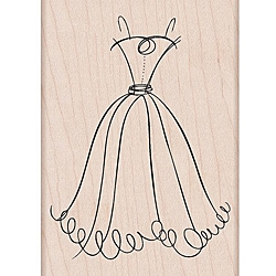 Hero Arts 'Fancy Dress' Wooden Stamp