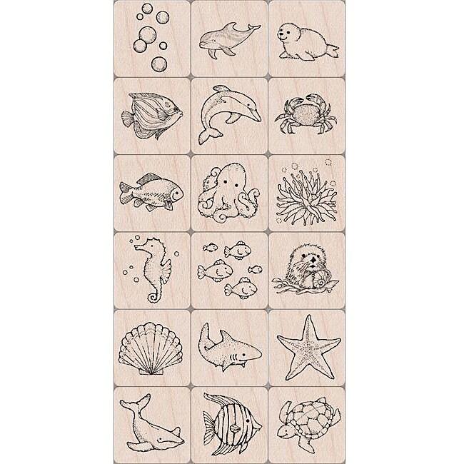 Hero Arts Ink 'n Stamp 'Sea Life' Tub
