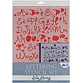 Blue Hills Studio 'Silly String' Lettering Stencil 4-piece Set