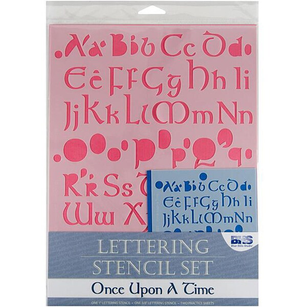 Blue Hills 'Once Upon A Time' Lettering Stencil 4-piece Set
