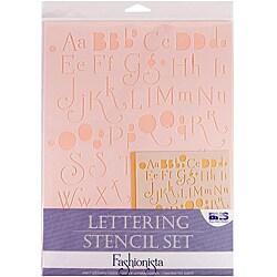 Blue Hills Studio 'Fashionista' Lettering Stencil 4-piece Set