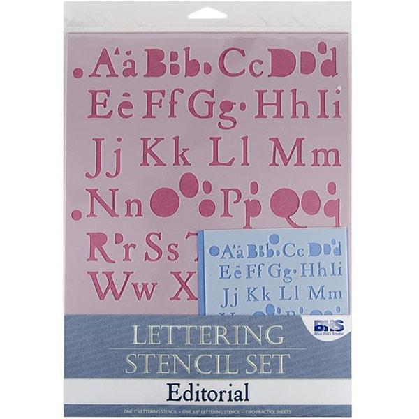 Blue Hills Studio 'Editorial' Lettering Stencil 4-piece Set