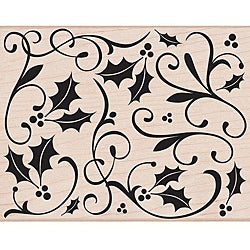 Hero Arts 'Holly Flourish' Wooden Stamp