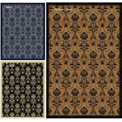 Impressions Royal Multi Abstract Rug (5'5 x 7'7)