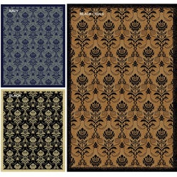 Impressions Royal Multi Abstract Rug (3'3 x 4'11)