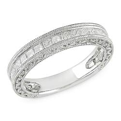 10k White Gold 1ct TDW Diamond Anniversary Band (G-H, I2-I3)