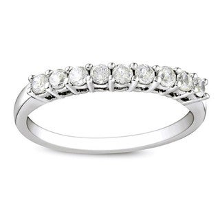 Sterling Silver 1/2ct TDW Round Diamond Wedding Band (G-H, I3)