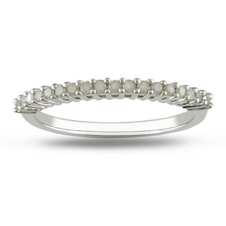 Sterling Silver 1/5ct TDW Diamond Thin Stackable Band (H-I, I3)