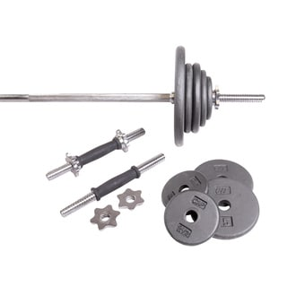 CAP Barbell Standard Grey 110-pound Weight Set