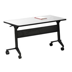 Mayline Flip-N-Go 48-Inch Rectangular Training Table