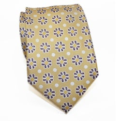 H. Luzzario & Co Men's Silk Yellow Floral Tie