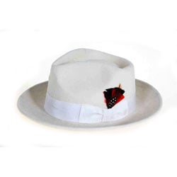 Ferrecci Men's White Wool Felt Fedora