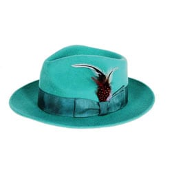 Ferrecci Men's Emerald Wool Felt Fedora