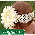 Headbandz Cream Daisy Headband