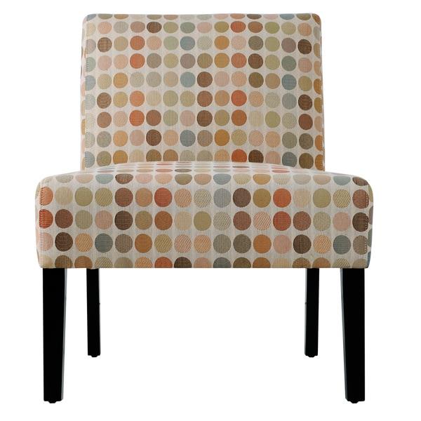 Portfolio Niles Beige Retro Dot Armless Chair