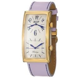 Tissot Women's 'Heritage' Goldplated Steel and Leather Quartz Watch