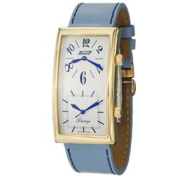 Tissot Men's T56562339 'Heritage' Goldplated Bezel and Blue Leather Watch