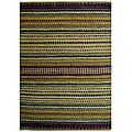 Handwoven Mohawk Green Striped Jute Rug (6' x 9')