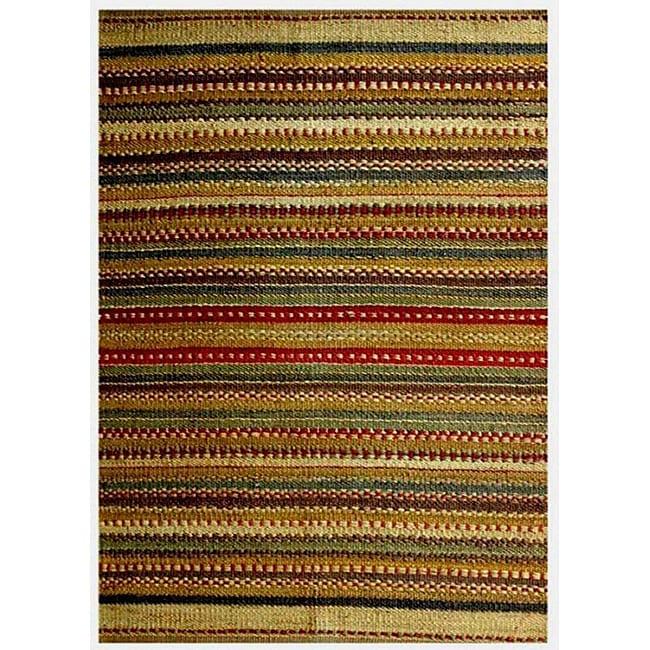 Hand-woven Mohawk Green Jute Rug (6' x 9')
